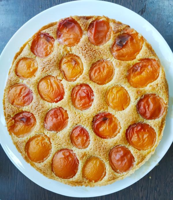 Tarte maison amandine aux abricots - blog de pâtisserie