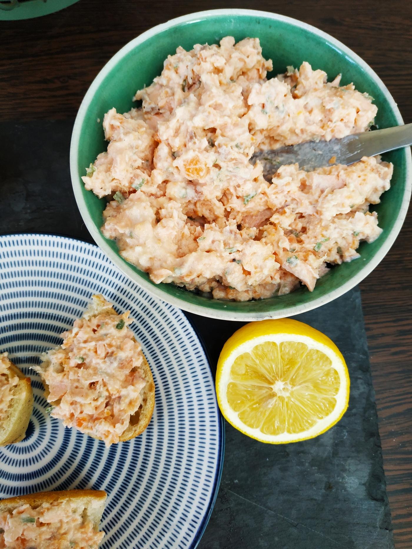 Tartinade de saumon fait maison