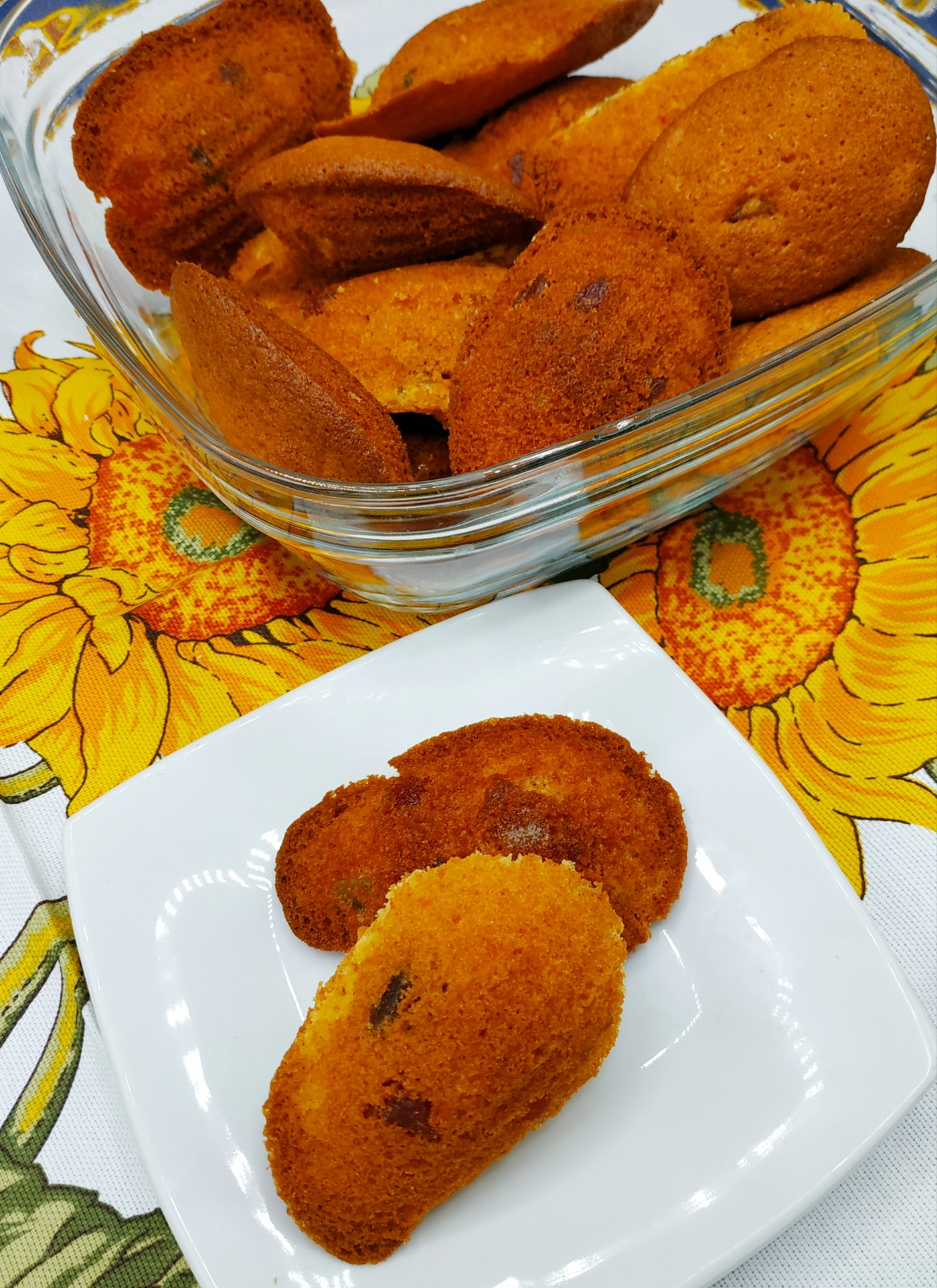 Madeleines aux fruits confits réalisés selon la recette de vahiné